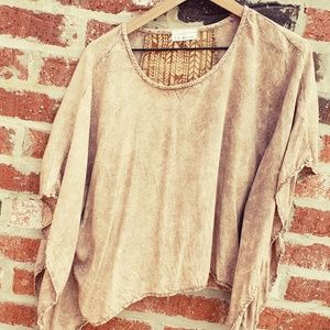 Eiffel design Tops - Cropped Poncho Top
